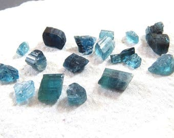 39 Carats Natural blue Tourmaline crystals  from Afghanistan