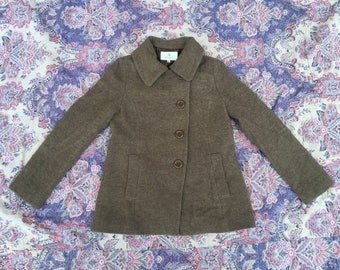 BEAUTY and YOUTH UNITED arrows made in japan linen wool knit jacket size small