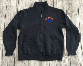 Official NEW YORK METS mlb major league baseball zip up sweater size small