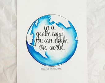 Gandhi   Quote   Hand Lettered   Calligraphy