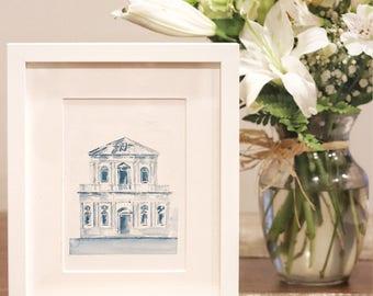 Sant'Andrea Della Valle | Watercolor | Art Print | Home Decor