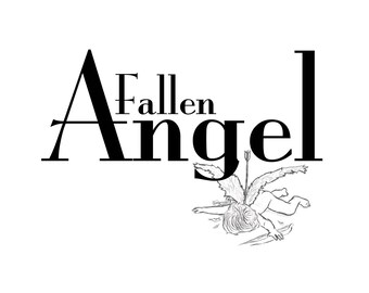 T-SHIRT: Fallen Angel - Classic T-Shirt & Ladies Fitted Tee - (LazyCarrot)