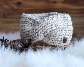 Knit Twist Headband // Chunky Knit Headband
