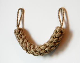 Door Stop Thick Rope..Braided Chunky Jute Rope..Nautical Decor-Industrial holdbacks..Protection for children ..