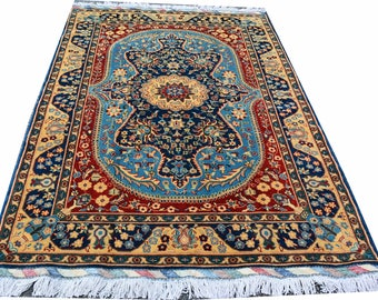 6.2X4 ft Afghan Aqche high quality made with the soft wool by the Turkomans in the north of Afghanistan, Area Rug, Persian Rug FREE SHIPPING