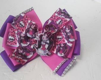 Monster high bow character bow birthday bow