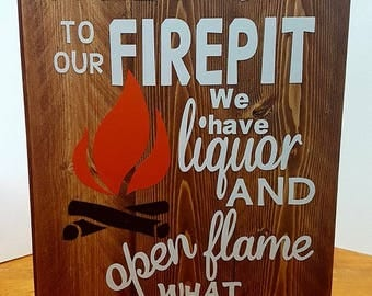 Welcome to our Firepit Outdoor Wood Trailer Camping Signs Custom Wood Signs
