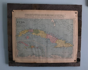Vintage Country Maps, Pallet Board Signs