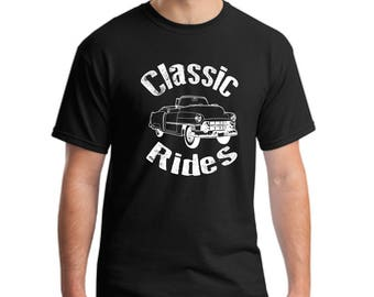 Classic Rides collectible car T-shirt- antique car shirt-vintage car shirt-collectible car t-shirt-gift t-shirt
