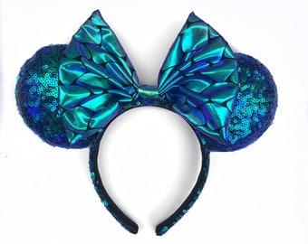 Mermaid , mermaid ears , minnie ears , ariel ears