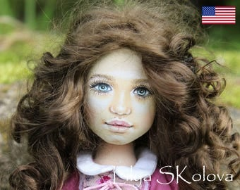 Textile doll personalized doll and interior doll fabric doll portrait doll cloth textile doll текстильная кукла selfie doll portrait doll