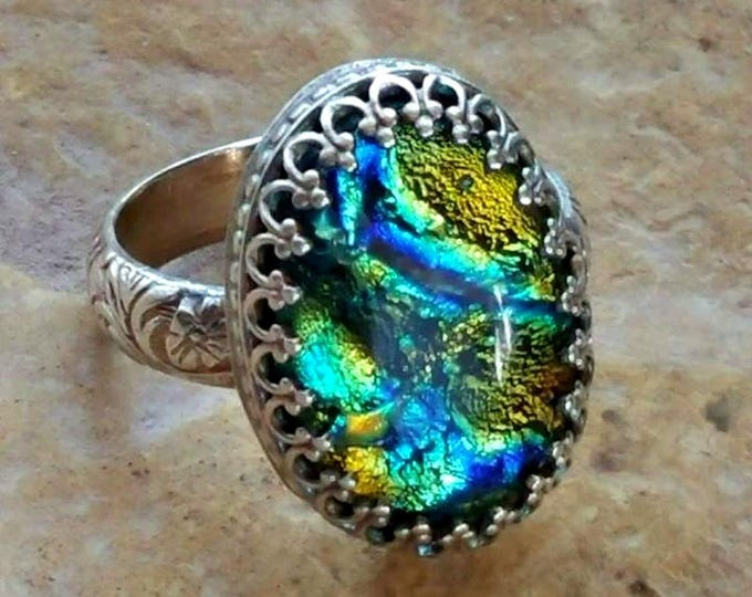 Ashes in Glass, Memorial Ring, Cremation Jewelry, Pet Memorial