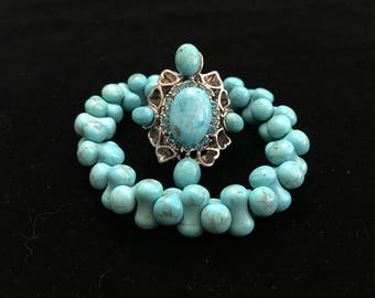 Treated Turquoise Jewelry Set