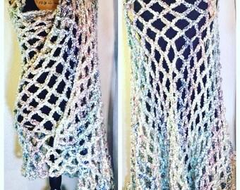 Mesh Crochet Shawl