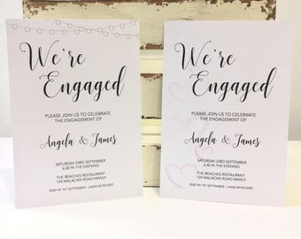 Engagement Invitations- 2 designs