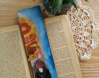 "Bookmarks handmade ""Jughead, Riverdale"" Collection ""Sérievore"" Bookmark Art drawing print"