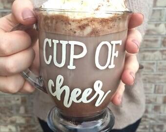 Cup of Cheer Mug | Holiday Cheer Mug | Holiday Cheer | Cute Mug | Holiday Mug | Christmas Mugs