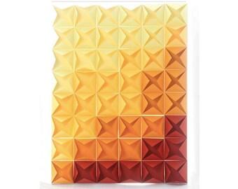 3D Paper Canvas, Abstract Art, Home Decor, Wall Art, Origami Art, Framed, Geometric Art, canvas,  Wall Decor , Wall Hanging