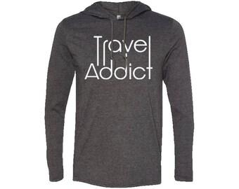 Men's LS T-Shirt Hoodie| Hiking Hoodie | Adventure Hoodie | Gift for men | Vintage | Valentines day gift | Wanderlust | Camping Hoodie