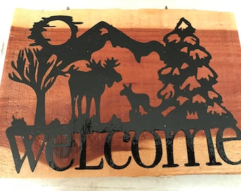 Cedar Country Welcome Sign