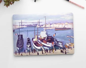 """Albert Marquet, """"The Old Port..."""". Macbook Pro 15 cover, Macbook Pro 13 cover, Macbook 12 cover. Macbook Pro cover. Macbook Air cover."""