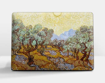 "Laptop skin (Custom size). Vincent Van Gogh, ""Olive Trees"". Laptop cover, HP, Lenovo, Dell, Sony, Asus, Samsung etc."