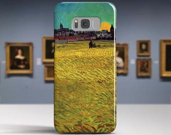 """Vincent van Gogh, """"Wheat Field at Sunset"""". Samsung Galaxy S6 Case LG G5 case Huawei P9 Case Galaxy A5 2017 Case and more. Art phone cases."""