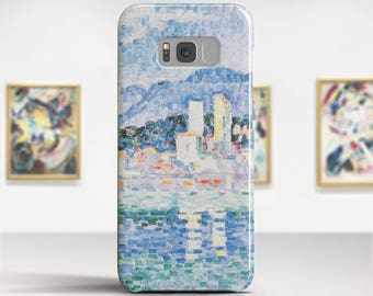 "Paul Signac, ""Antibes, Thunderstorms"". Samsung S8 Case, Samsung S7 Case, Samsung S6 Case, Huawei, LG, Google Pixel Cases. Art phone cases."
