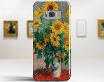 """Claude Monet, """"Bouquet of Sunflowers"""".Samsung Galaxy S7 Case LG G6 case Huawei P10 Case Galaxy J5 2017 Case and more. Art phone cases."""