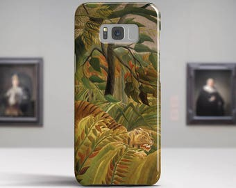 "Henri Rousseau, ""Tiger in a Tropical Storm"".Samsung Galaxy S7 Case LG G6 case Huawei P10 Case Galaxy J5 2017 Case and more. Art phone cases."