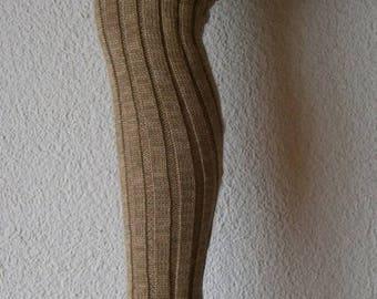Overknees leg warmers with foot