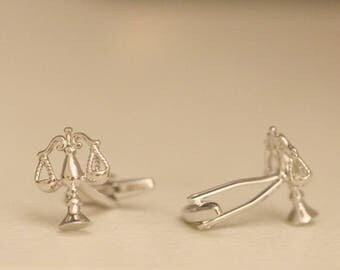 Scales Of Justice Cufflinks, Gift For Lawyer, Gift For Attorney, Free Gift Box