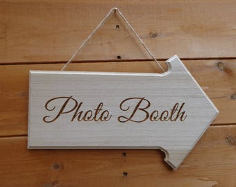 Wedding / Party / Event Wooden Engraved Arrows Various Sayings & Bespoke