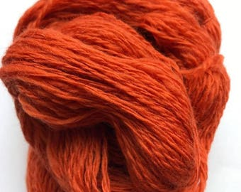 Hand Spun Corriedale - Cinnamon (Loose twist)