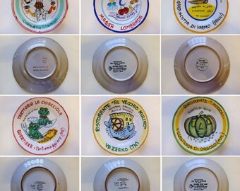 lot stock 6 dishes of the good memory decorative plates ceramic solimene vietri - Vietri Dishes
