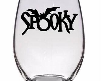 Spooky Bat Halloween Wine Pint Glass Tumbler Alcohol Drink Cup Barware Merch Massacre