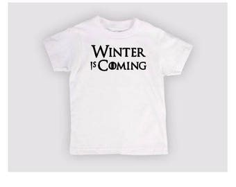 Winter is Coming Game of Thrones GOT Kids Toddler Children T Shirt Many Sizes Colors Custom Horror Halloween Merch Massacre