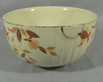 Hall's Superior Quality Dinnerware, Jewel Tea Autumn Leaf Serving Bowl, Radiance Design  SKU: 1507.03456
