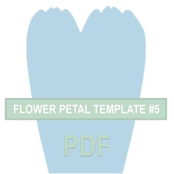Flower Petal Template  Pdf