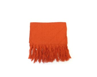 orange mexican rebozo | rebozos de artesania mexicana | shawl, scarf, baby wrap, carrier | mexikaner schal | mexique écharpe |