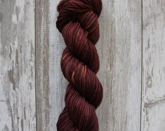 Mahogany • Worsted Weight - Superwash Merino - Speckled Yarn - Hand Dyed Yarn