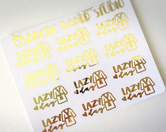 Lazy Day - FOILED Sampler Event Icons Planner Stickers