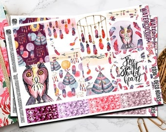 036 | Watercolour Tribal // Erin Condren Vertical  and Happy Planner Classic Weekly Planner stickers
