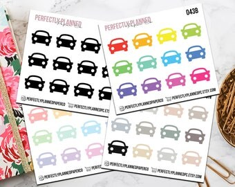 043 | Car // Mini Icon Planner Stickers