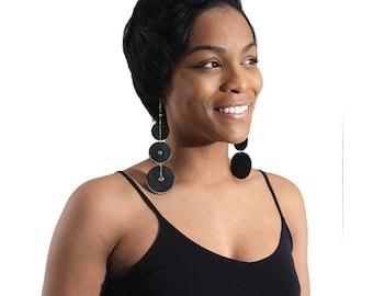 Black Wooden Goddess Earring