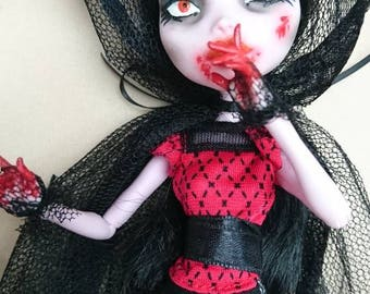 Ooak Custom Monster High Doll Mad Vampire Victoria
