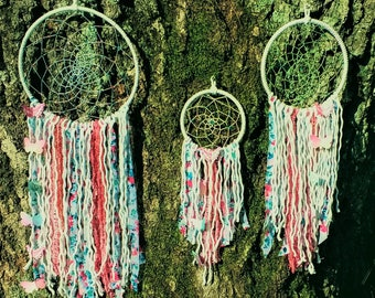 Floral Shabby Chic Dream Catcher - Coral Garden Butterfly Girls Nursery