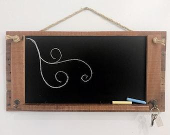 Australian Up-Cycled Hand Made Rustic Chalkboard Sign Key Holder Wedding Cafe Blackboard Mini Framed Kitchen First Chalk Board Hook Easel