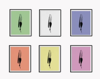 New  Feather series! 6 Art prints for the price of 3