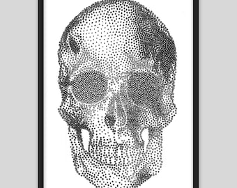 Skull Mechanised Drawing - Drawbot A3